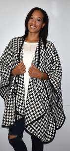 Black/White Houndstooth Wrap
