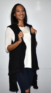 Black Knit Vest