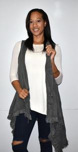 Dark Grey Knit Vest