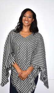 Black Houndstooth Poncho