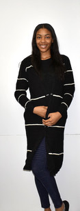 6028 Black Sweater Jacket w/ Pockets