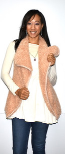 10348 Mauve Short Fur Like Vest