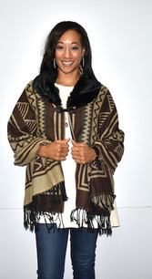 168 Brown Tribal Patterned Wrap