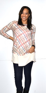2229 Lines Print B Layered Button Top