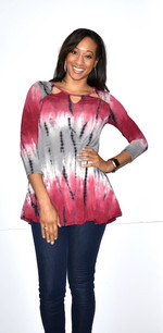 3611 Tie Dye Pocket Top