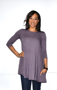 4032 Light Purple Pocket Dress