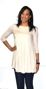 4032 Off White Pocket Dress