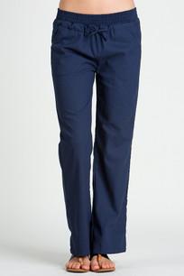 24833 Navy Linen Pocket Drawstring Pant