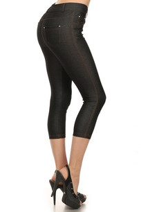 CJN-201 Black Capri Jegging