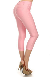 CJN-201 Light Pink Capri Jegging