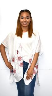 White Embroidered Kimono