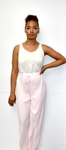 902 Light Pink Pleated Pants