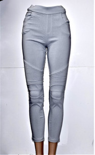 MT-01 Light Gray Moto Jegging