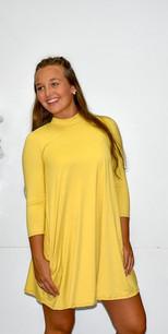 3766 Yellow Pocket Dress