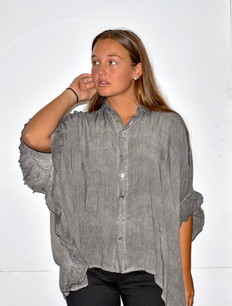 15491 Garment Dyed Oversized Blouse