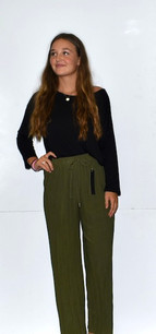 902 Green Pleated Pants