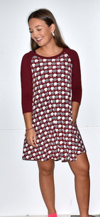 34955 Multicolored Elephant Tunic Pocket Dress