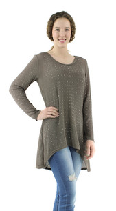 80200 Khaki Sparkle Top