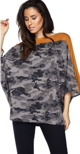 83809 Gray Camouflage Top