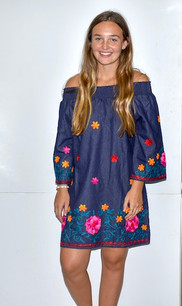 2011 Denim Colored Embroidered Tunic