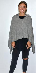 Grey Cashmere Poncho