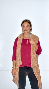 60527 Tan Chenille Like Vest