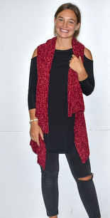 60527 Red Chenille Like Vest