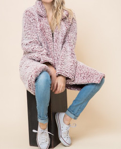 8772 Wine Sherpa Jacket