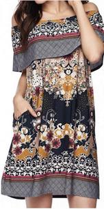 83896 Navy Multi Pocket Tunic Dress