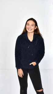 1988 Navy Sherpa Pull Over Top