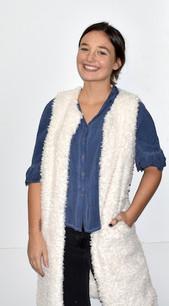 10421 White Fuzzy Long Vest