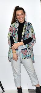 4068 Turq Floral Kimono