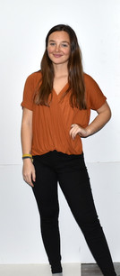 263 Rust Overlap Front Short Sleeved Top