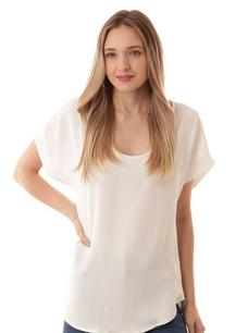 17262 White Slab Fabric Top