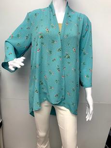 4086 Mint Floral Kimono