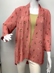 4086 Dusty Rose Floral Kimono