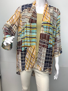 4086 Plaid Kimono