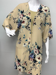 16722 Long Floral Kimono