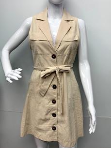 993 Beige Button Down Dress