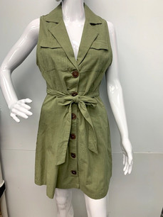 993 Olive Button Down Dress