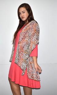 4068 Leopard Patterned Kimono