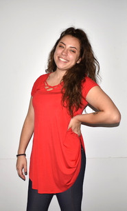 1764 Red Sleeve Top