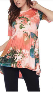 38235 Coral Baby Doll Top