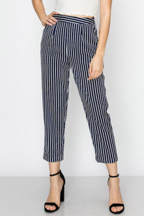 291 Navy/White Striped Pants