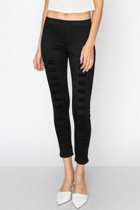 826 Black Distressed Slim Pants