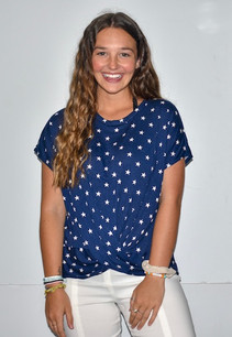 3783 Blue/White Stars Top