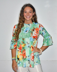 3918 Baby Doll Floral Top