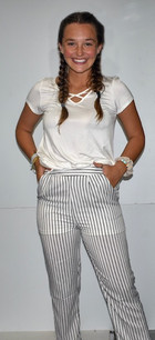 291 White/Black Striped Pants