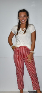 291 Red/White Striped Pants