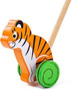 Bigjigs Wooden Push Along Tiger